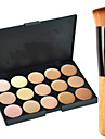15 Farben Concealer / Kontur Make-up Pinsel 1 pcs Trocken / Kombination / OElig Gesicht Bilden Kosmetikum