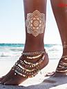 În Straturi Brățară Gleznă Sandale Desculț - Bikini, Multistratificat, Paiete Auriu Pentru Zilnic / Casual / Pentru femei