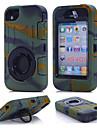 Pentru Carcasă iPhone 7 iPhone-7 Plus Carcasă / Dirt / șoc Dovada apă Suport Inel Maska Corp Plin Maska Culoare solida Greu PC pentru