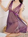 Feminin Capoate / Ultra Sexy / Costume Pijamale Dantelă / Organza Roz / Violet / Negru