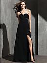 Tube / kolonne Enskuldret Gulvlang Spandex Formell kveld Kjole med Perlearbeid av TS Couture®