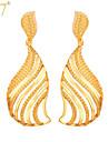 Pentru femei Cercei Picătură Vintage Draguț Petrecere Birou Casual Modă Placat cu platină Placat Auriu Aliaj Leaf Shape Bijuterii Auriu
