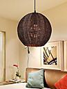 Contemporain / Lanterne / Rustique / Globe Metal Lampe suspendue Chambre a coucher / Salle a manger / Bureau/Bureau de maison