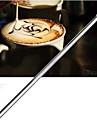 rostfritt kaffe virka nålstick ristade målade blommor snidade fint kaffe nål (1 st)