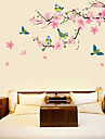 Blommig Botanisk Väggklistermärken Väggstickers Flygplan Dekrativa Väggstickers, Vinyl Hem-dekoration vägg~~POS=TRUNC Vägg