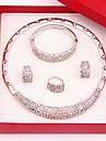 Pentru femei Set bijuterii Include Brățară Σκουλαρίκια Coliere Inel - Vintage Draguț Petrecere Casual Atârnat Aliaj Pentru