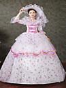 Une Piece/Robes Gothique Steampunk® Victorien Cosplay Vetrements Lolita Imprime Fleur Lace Manches Longues Long Chapeau PourDentelle