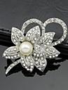 alb stras cristal perla floare brosa femei pentru petrecerea de nunta, bijuterii fine
