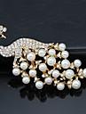 Pentru femei Broșe Petrecere Birou Modă Perle Cristal Zirconiu Cubic Aliaj Păun Auriu Alb Bijuterii Pentru Nuntă Petrecere Ocazie