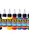 Taches de tatouage solong 7 couleurs set 1 oz 30ml / bouteille de tatouage kit de pigment
