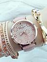 Pentru femei Ceas de Mână Quartz Piele PU Matlasată Negru / Alb / Pink Gravură scobită Analog femei Modă Elegant - Alb Negru Roz