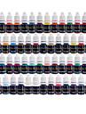 Taches de tatouage solong 54 couleurs set 8ml / bouteille de tatouage kit de pigment