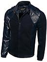 Bărbați Guler Cămașă Jachetă Birou / Carieră Clasic & Fără Vârstă,Culoare solidă Manșon Lung Primăvară Toamnă-Regular Stil Artistic Piele