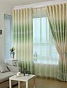 Două Panouri Tratamentul fereastră Baroc European Designer  Țara Modern Neoclasic Mediteranean Rococo Dormitor Poliester Materialperdele,