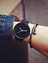 Bărbați Pentru femei Pentru cupluri Ceas La Modă Quartz Ceas Casual Piele Bandă minimalist Cool Negru