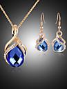 Pentru femei Seturi de bijuterii Piete Prețioase & Cristal Zirconiu Cubic Diamante Artificiale Placat Cu Aur Roz Aliaj Circle Shape