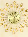 modernt kreativt mode metallglas mute digitalt vägghängande klocka
