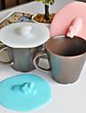 Capac de design hipopotam drăguț 1 buc anti-praf silicon creativ capac ceașcă (culoare aleatorii)