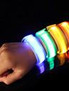LED-armband för jogging Reflexband Säkerhet Hög synlighet Nylon för Camping/Vandring/Grottkrypning Cykling Löpning - Orange Rosa Grön Gul