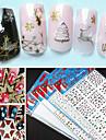 1 Nail Art-klistermärken Abstrakt makeup Kosmetisk Nail Art-design