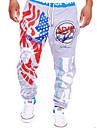 Bărbați Activ Bumbac Activ Pantaloni Sport Relaxat Pantaloni - Stil modern, Imprimeu Scrisă