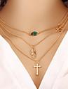 女性用 レイヤードネックレス ラップネックレス レディース ファッション ゴールド ネックレス ジュエリー 用途 パーティー 誕生日 贈り物