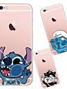 Pentru iPhone X iPhone 8 iPhone 6 iPhone 6 Plus Carcase Huse Transparent Carcasă Spate Maska Desene Animate Moale TPU pentru iPhone X