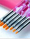 1uppsättning manikyr kit ljusterapi penna lila stav platt huvud 7 pack manikyr verktyg grossist gul