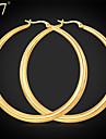 Pentru femei Cercei Rotunzi  Vintage Draguț Petrecere Birou Casual Teak Placat Auriu Oțel titan Bijuterii Auriu Alb Zilnic Purtare Zilnică