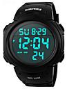 Bărbați Ceas Sport Ceas de Mână Piloane de Menținut Carnea LED Calendar Cronograf Rezistent la Apă alarmă Ceas Sport PU Bandă Negru