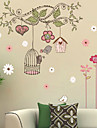 Crăciun Florale Vacanță Peisaj Perete Postituri 3D Acțibilduri de Perete Autocolante de Perete Decorative,Vinil Pagina de decorare de