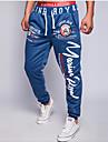 Bărbați Larg Pantaloni Chinos Pantaloni Șic Stradă Scrisă / Imprimeu Casul/Zilnic Talie Medie Cordon Polyester / Bumbac Micro-elastic