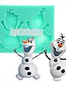 Crăciun drăguț om de zăpadă diy silicon budinca de ciocolată tort de zahăr mucegai de culoare aleatoriu