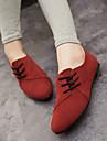 Femme Chaussures Tissu Printemps Ete Automne Confort Talon Plat Lacet Pour Decontracte Noir Gris Jaune Rouge