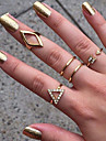 Pentru femei Inel - Aliaj Stilat, Modă 8 Argintiu / Auriu Pentru Nuntă / Petrecere / Party / Seara / Zilnic / Casual / Ștras
