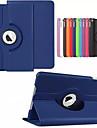 Pentru Carcase Huse Cu Stand Auto Sleep / Wake Rotație 360 ° Origami Corp Plin Maska Culoare solidă Greu PU Piele pentru Apple iPad