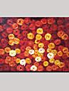 Pictat manual Abstract Floral/Botanic Modern Un Panou Canava Hang-pictate pictură în ulei For Pagina de decorare