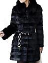 Women's Elegant Faux Fur Pure Color Long Sleeve Coat