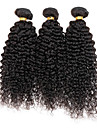 Cheveux Peruviens Kinky Curly / Tissage boucle Cheveux Vierges Tissages de cheveux humains Tissages de cheveux humains Noir / Couleur