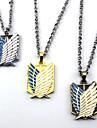 Smycken Inspirerad av Attack on Titan Cosplay Animé Cosplay-tillbehör Dekorativa Halsband Legering Herr Varm Halloweenkostymer