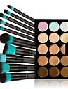 Balsam Korektor / kontur Pędzle do makijażu Pojedyncza otwarta pokrywa 1 pcs Makijaż Oko siła robocza Szyja Sucha Mokry Połączenie Pokrycie Długotrwały Skóra w różnych tonach 15 kolorów Kosmetyk