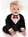 Bebelus Băieți Set Îmbrăcăminte Mată Bumbac Toate Sezoanele Manșon Lung Haine Alb Negru