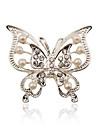 argint placare / imitații de perle / stras brosa femei fluture brosa de nunta / petrecere 1 buc