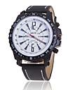 Bărbați Quartz Ceas de Mână Ceas Casual Piele Bandă Charm Negru Maro