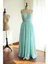 볼 드레스 스윗하트 바닥 길이 쉬폰 스파클 & 샤인 포멀 이브닝 드레스 와 비즈 / 크리스 크로스 으로