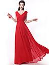 rochie de seara rochie de mireasa sifon lungime - a-linie curele cu criss cruce de yaying
