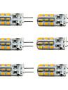 1.5W G4 Ampoules Mais LED T 24 SMD 2835 100-150 lm Blanc Chaud Blanc Froid 2800-3000/6000-6500 K Intensite Reglable DC 12 V