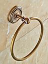 Barre porte-serviette Antique Laiton 1 piece - Bain d\'hotel anneau de serviette