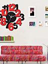 modern de moda de sticla de moda din lemn ceas de perete mute 2 culori opțional