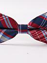 bărbați de partid / de seară de nunta formal roșu grilaj bandă poliester cravată de cravată